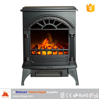 Cheap portable wood stove style electric fireplace heater