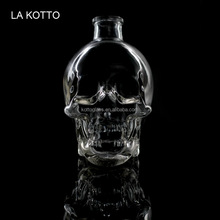 180ml hot sell Skull Shot Glass Bottle Creative Vodka Wine Flask Container for Home Bar /kotto glass cup
