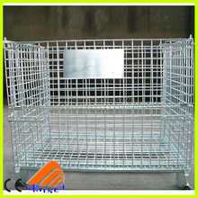 wire mesh pallet cage, Wire Folding Pet Crate Dog Cage, galvanized steel cage
