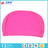 China supplier manufacture new design simple style polyester custom swim cap