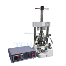 Lan Manual Heatable Hydraulic Press for microwave dielectric materials, solid state electrolyte, and semiconductor reseach