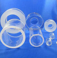 custom-made transparent heat resistant quartz pipe