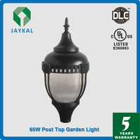 UL DLC Certified hot new LED Post Top Garden light Fixture