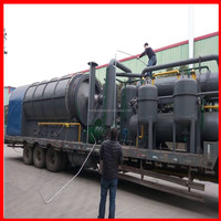 Mobile 3-5Tons/day small pyrolysis plant to convert waste rubber plastic