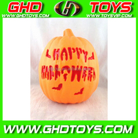 New cheap solar plastic halloween pumpkin light, LED pumpkin light, light toy for halloween party