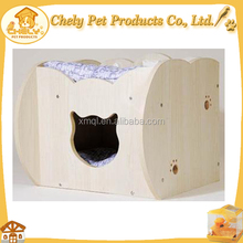 Cheap Pet Cool Bed Personalized Comfortable Wooden Bed With Cat Head Shape Hole Pet Beds & Accessories
