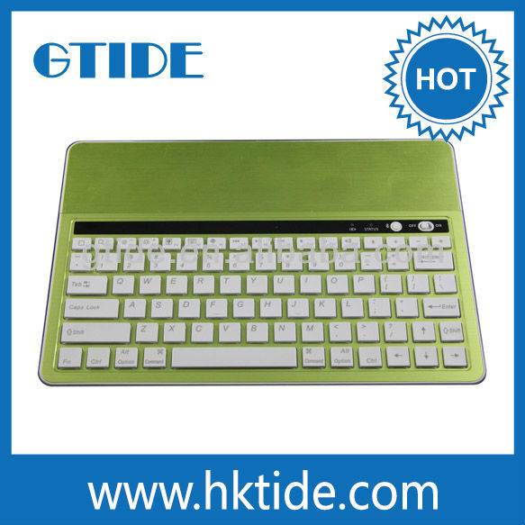 Gtide for apple ipad air green color metal cover bluetooth keyboard 2016 new promotional products