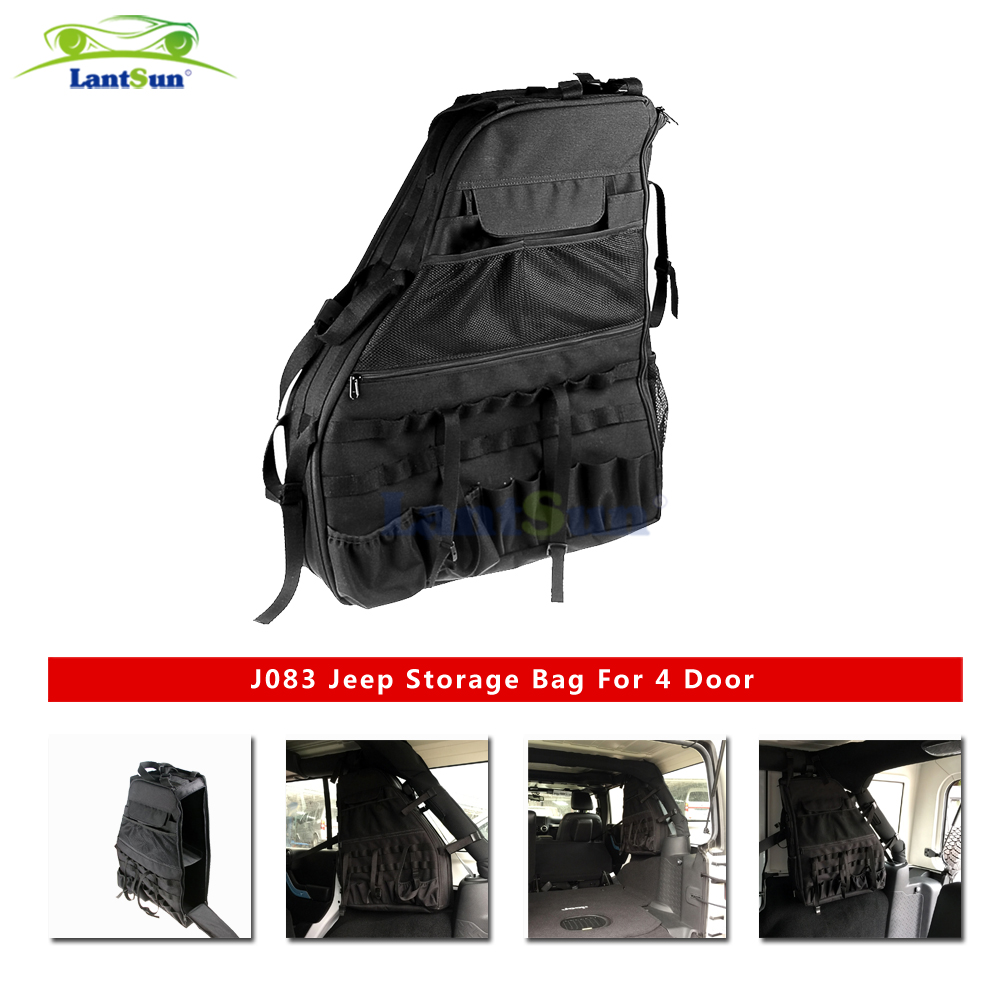 2x Roll Cage Multi-Pockets Storage & Organizers & Cargo Bag for 2007+ Jeep Wrangler JK 4-door storage bag
