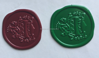 green seal wine label,metal wax seal sticker,bottle wax seal hang tag