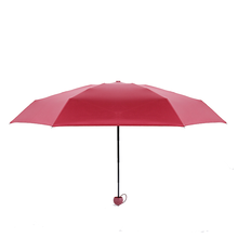 Light Weight Anti UV Rain Portable Pocket Mini Umbrella,5 Fold Umbrella For Sale
