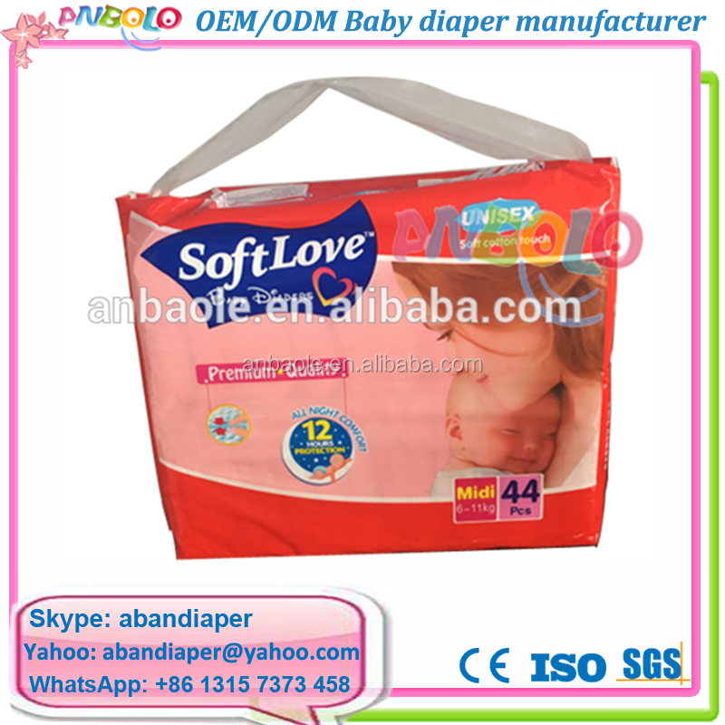 Hot Sale High Quality Soft Love Diapers Pampering Baby Disposable Diapers In Nigeria