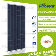 25 years warranty 4BB black poly solar panel 24v 140w photovaltic solar moudle custom power