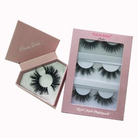 100% Handmade natural 3d mink lashes short False Eyelashes Cross Messy custom cosmetic packaging