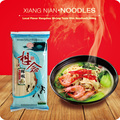 Dry Noodles 348g Chinese Local Flavor Hangzhou Shrimp Taste Slim Noodles 1mm Xiang Nian Food 6 Sauce Bags Noodles