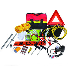 24pcs emergency car kit in hand bag, auto safety kit