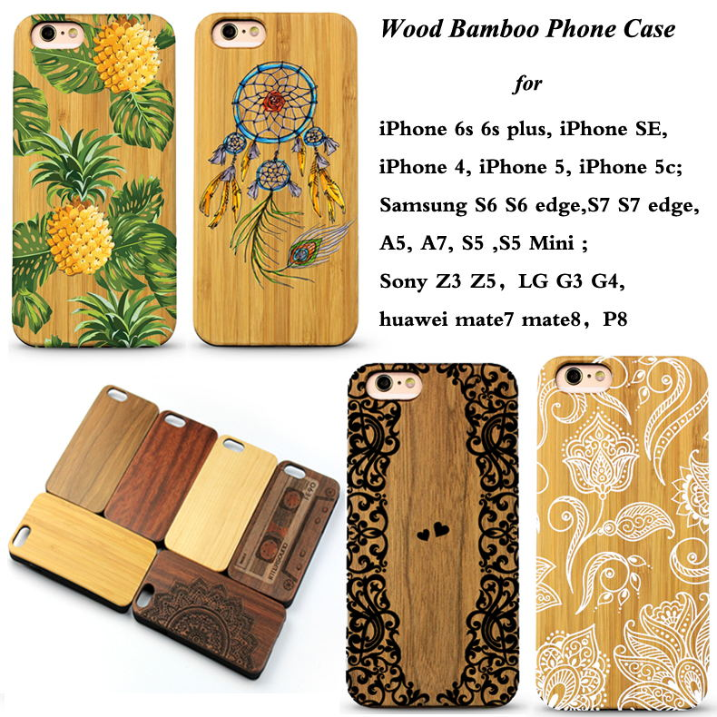 Manufacture customize bamboo wood phone case cover for iphone 7 case for iphone 6 for samsung galaxy s8 for iphone 7 case