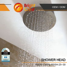 Brightcrest-2016 led round shower head for Seychelles
