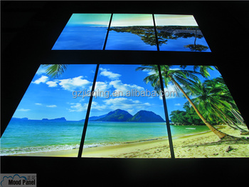 Led wall panel light luminous virtual window beach photo buy luminous virtual window led wall - Led wandpaneel ...