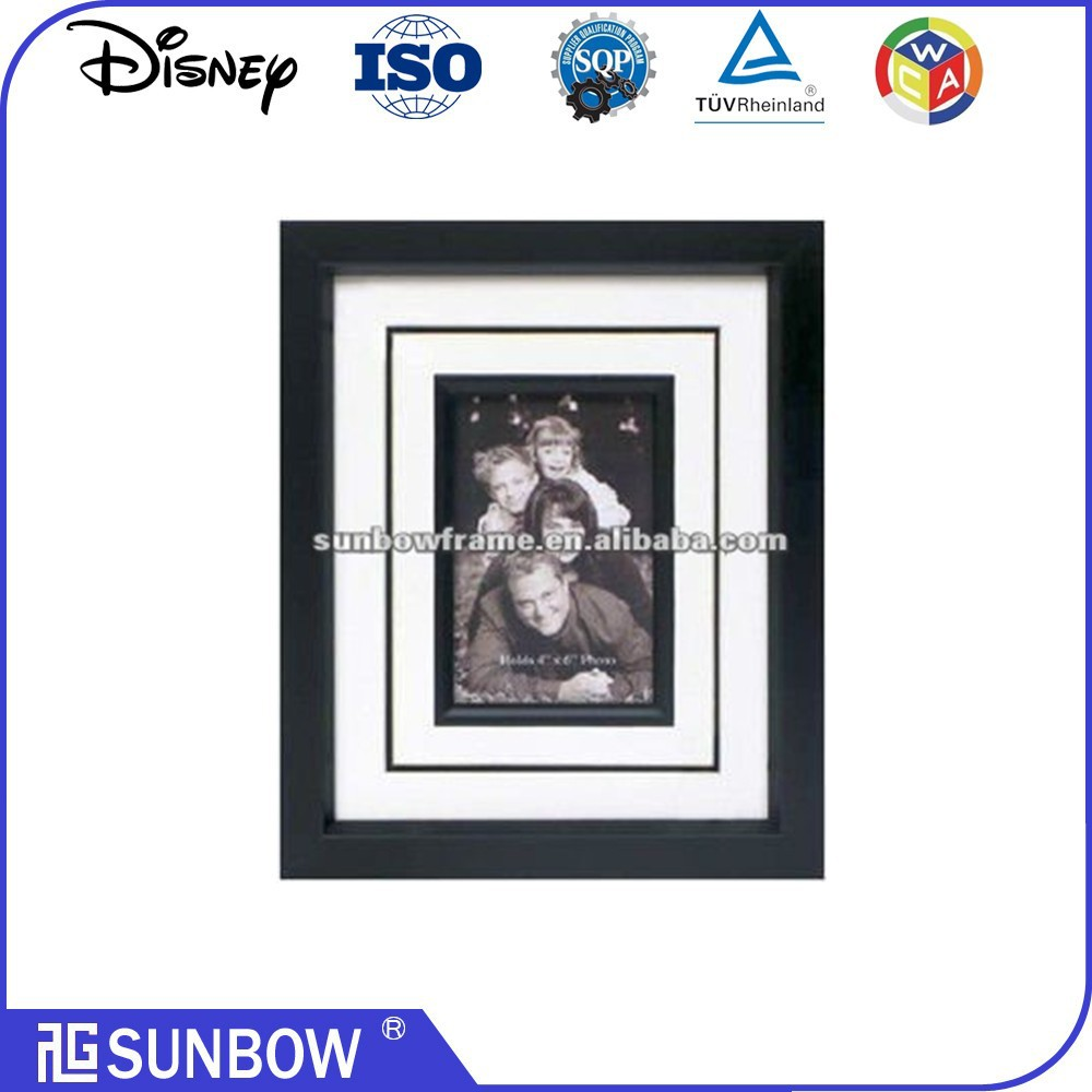 "8X10"" photo frame Black Shabby Plastic Picture Frame For Memorial"
