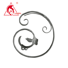 Decorative wrought iron c scroll
