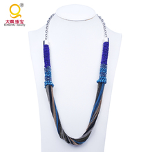 Fashion popular alloy chain necklace in roll