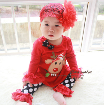 Wholesale cute baby chirstmas outfits kids deer designer for Cheap boutique holidays