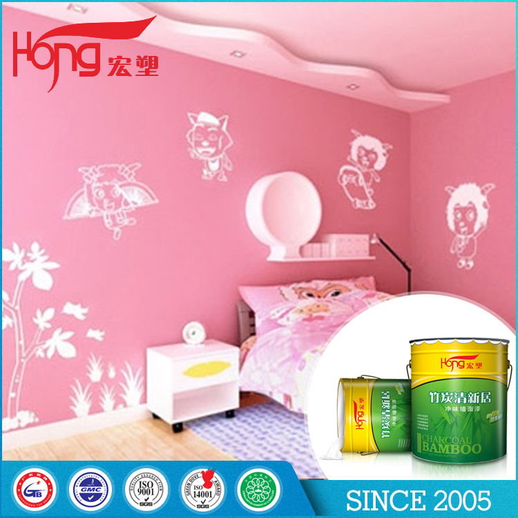 Euro style easy apply washable interior coating wall colorful paint