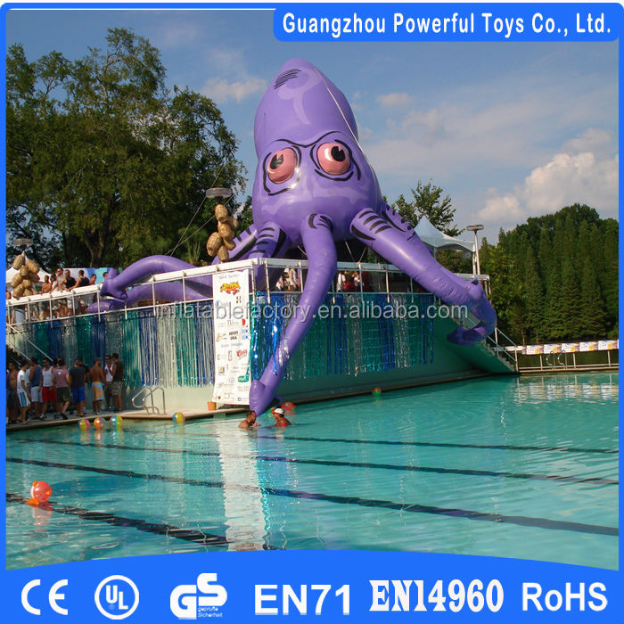 2014 cheap inflatable toy squid model