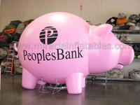 inflatable piggy bank,giant inflatable animals,flying pig for sale C4012