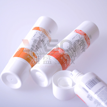 clear plastic tube with small screw caps