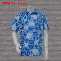 Garment dyed sublimated polyester button down shirts