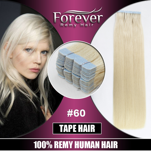 Popular in UK !Full Cuticles Double Drawn 100% russian remy hair,hot sale blonde curly tape hair extensions