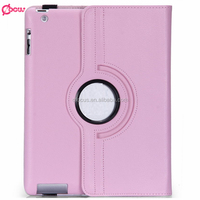 Fashion tablet cases for ipad cases rotate 360 degree leather case for iPad 2/3/4