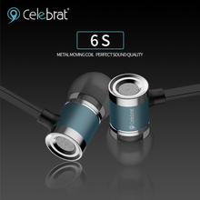 Celebrat New Product 6S 3.5mm Handfree Flat Cable Earphone With Mic For Laptop And Mobile Phone