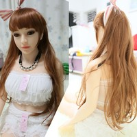 Wholesale 135 CM Height Real Silicone Sex Doll With Metal Skeleton Inside For Male Drop Shipping Support