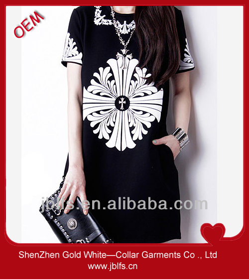 printed dress cotton women's t-shirt