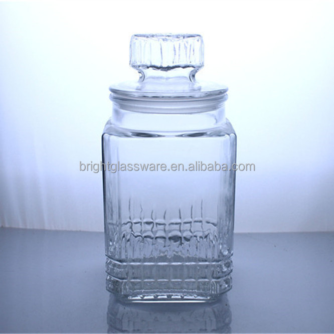 New luxury high quality candy jar with glass lid for home wedding candy store