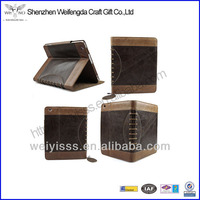 Hot Selling Luxury Genuine Vintage Leather Case for Ipad