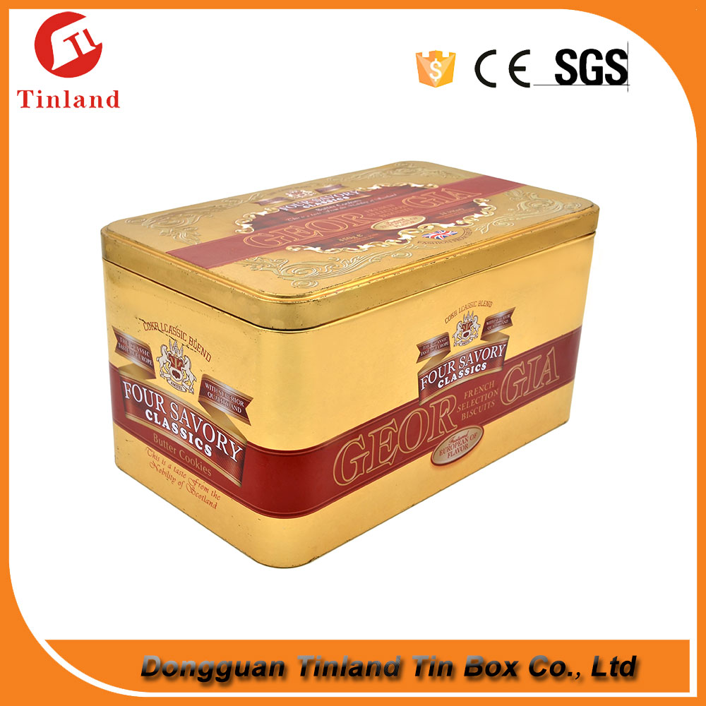 Large Capacity Biscuit Cookie Box Packaging Metal Cookie Tin