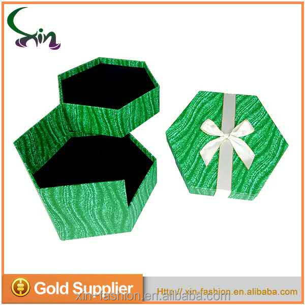 special polygonous priting cardboard gift box for many use