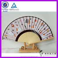 Customised Silk Fan Bamboo Silk Hand Fan