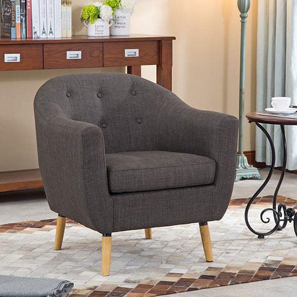 Nice design brown one person sofa accent chair Zoy 9995A