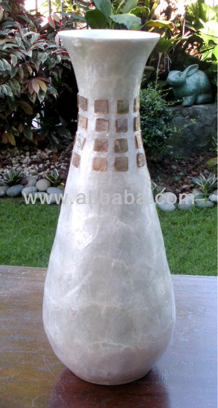 Capiz Shell Vase / Shell Home Decor / Handicraft