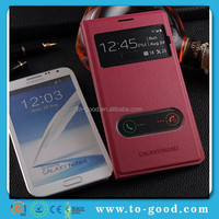 Flip Cover Mobile Phone Case For Samsung Galaxy Note 2,For Samsung Note 2 Cases