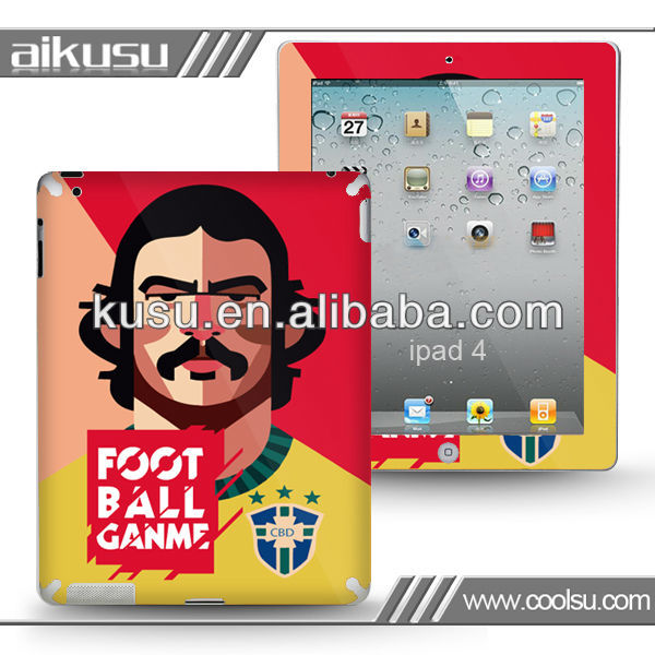 2013 football star series !!! gel covers for laptops with anti-dust and water