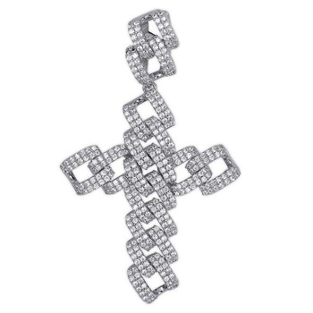 ins custom Pendant Necklace Iced Out Cubic Zircon Hip Hop cross necklace Men Charm Chain Jewelry drop shipping