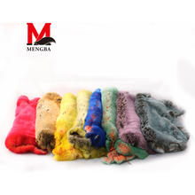 raw rabbit skin,multi-colour rex rabbit skin, rabbit fur wholesale,-fur blanket, Mengba