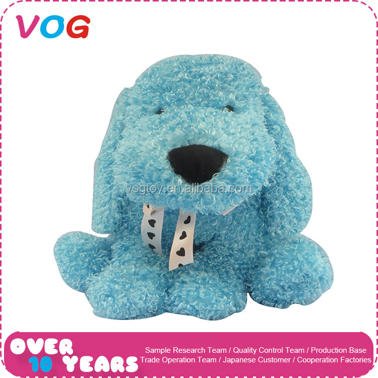 Fashion blue dog stuffed toy manufacture in philippines fabric plush toy