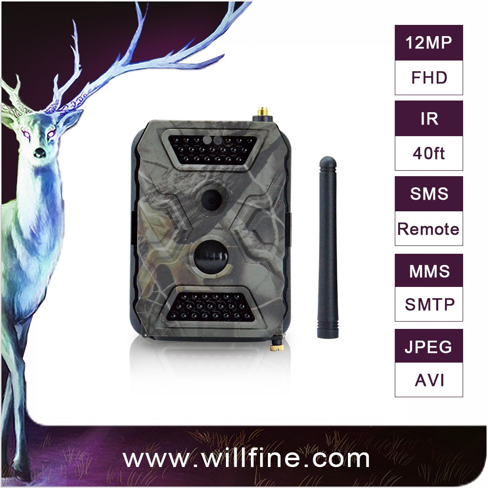 12MP 1080P 940nm wireless sms mms trail camera wholesale digital trail camera satellite game camera
