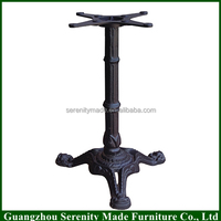 2016 China wholesale furniture bistro 3 way cast iron metal dining table base for sale